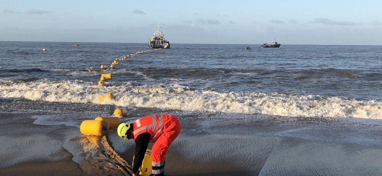 Atterrage du cable marin DUNANT à Saint-Hilaire de Riez - Merceron TP