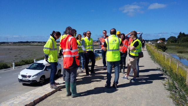 Visite du chantier de confortement des digues du Gois et des Mattes à Noirmoutier Groupe Merceron