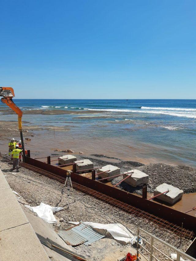 Rehabilitation de la risberme le long de la promenade Georges Clemenceau aux Sables d'Olonne - Merceron TP Maritime